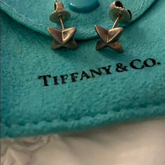 Jewelry - Tiffany and Co sterling silver X earring